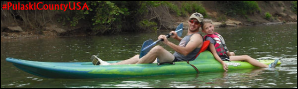 Kayaking and Canoeing are popular activities on the Gasconade River. Photo courtesy of Boiling Spring Campground.