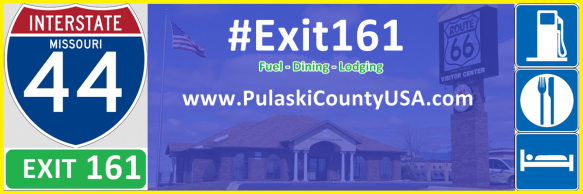Exit 161 offers varied and diverse fuel, lodging, and dining options for Interstate 44 travelers.