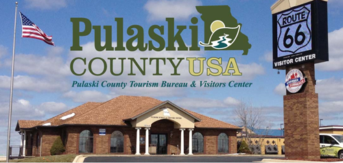 Pulaski County Tourism Bureau's Visitors Center in Saint Robert is located on Interstate 44 at #Exit161