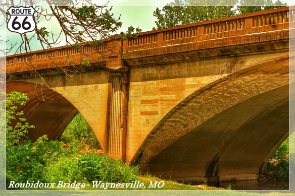 Draw or paint a picture of Roubidoux Bridge in Waynesville, MO. Image by Laura Huffman for Pulaski County Tourism Bureau.