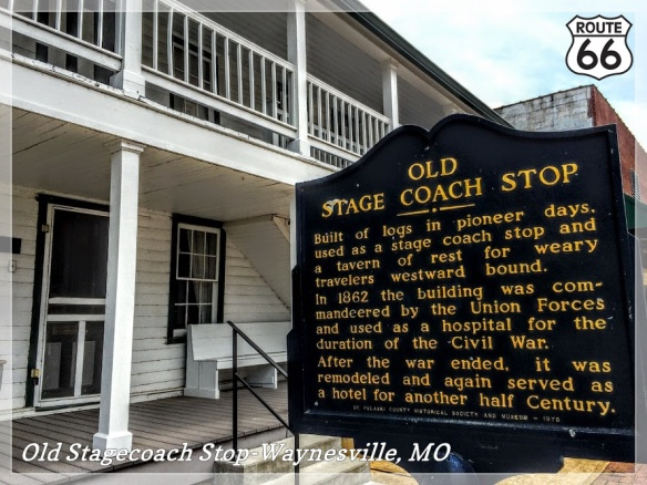 Several eras of Waynesville's history are represented at the Old Stagecoach Stop in Waynesville, MO. Image by Laura Huffman.