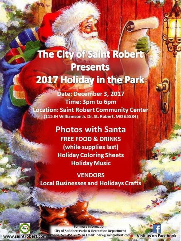 December 3 Holiday in the Park