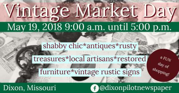 May 19 Vintage Market Day