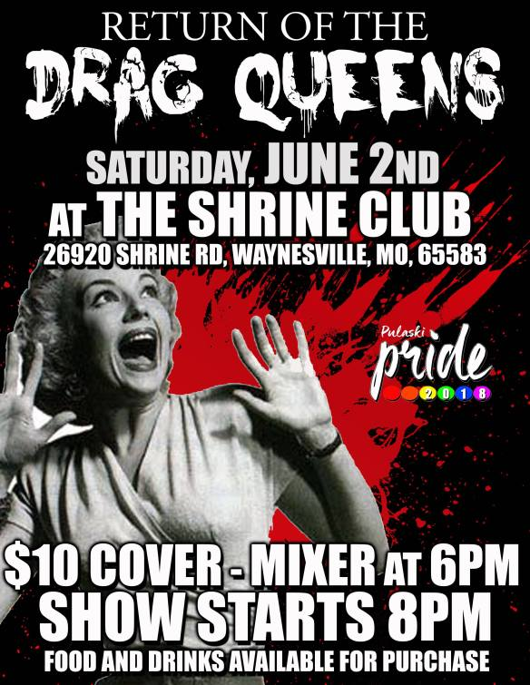 June 2 Pulaski County Pride Drag Show 2018