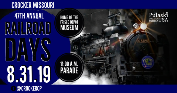 47th Annual Railroad Days August 31 USE THIS ONE